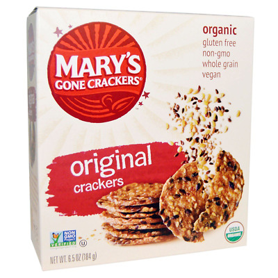 NEW MARY'S GONE CRACKERS ORGANIC SUPER SEED GLUTEN WHEAT FREE VEGAN 0g TRANS FAT