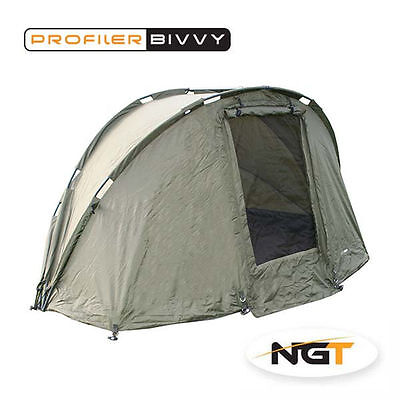 NGT Carp 2 Man Profiler Pram Hood Fishing Bivvy Shelter