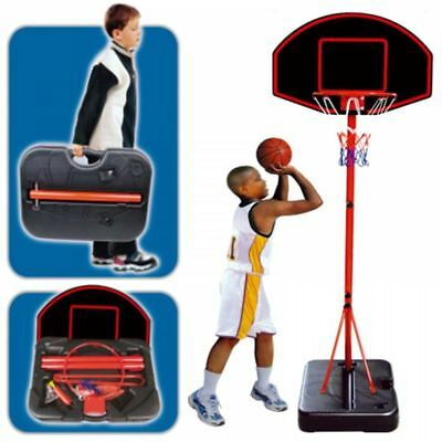 Large Portable Childrens Free Standing Basketball Net Set Hoop Ball Carry Case