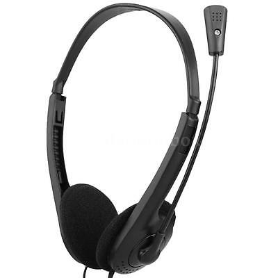 3.5mm Stereo Headset Earphone Headphone with Microphone Mic for Laptop PC Z7Y7