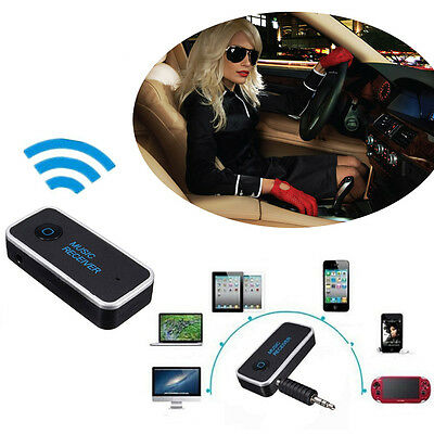 Bluetooth 4.1 Wireless Audio AUX Car Stereo Music Receiver Adapter 3.5mm Jack UK