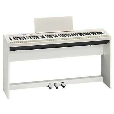 Roland FP-30 (White) with Stand and Pedals