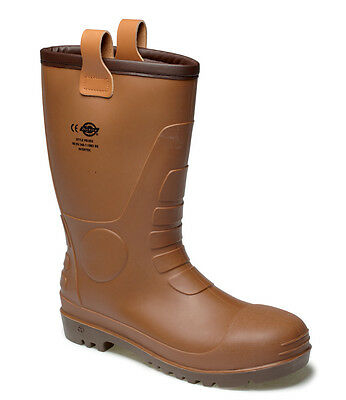 Dickies Groundwater Safety Rigger Waterproof Work Boots Steel Toe Cap Wellington