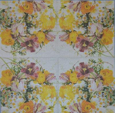 PAPER TABLE NAPKINS BUNCH OF FLOWERS  FOR CRAFT DECOUPAGE TEA PARTIES 165