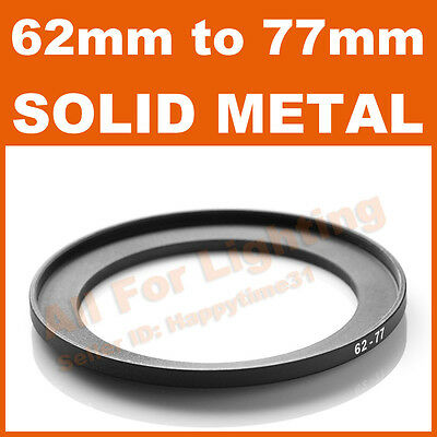 62-77 62mm to 77mm Metal Step Up Step-Up Ring for Lens Filter Stepping Macro