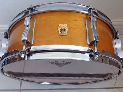 1969 Ludwig Jazz Festival Snare Drum Natural Finish Great Condition.