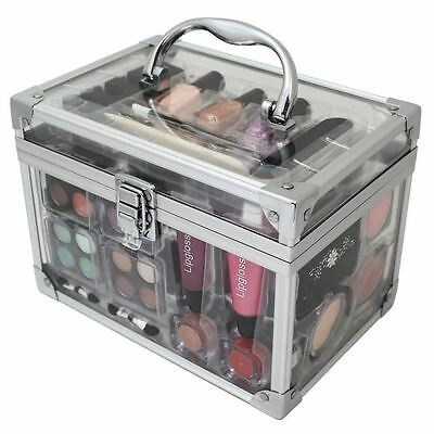 42 Piece Acrylic Make Up Box Set Clear Vanity Case Cosmetic Gift X-Mass Birthday