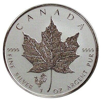 ++ Maple Leaf 2017 - Privy Hahn - 1oz Ag / Silber - 5 CAD ++