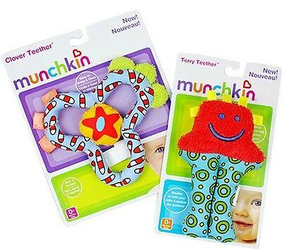 Munchkin Newborn Gifts Baby Kids Stroller Crib Terry Clover Rattle Teether Toys