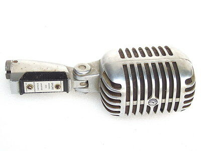 Vintage Shure Model 555 Unidyne Dynamic Microphone Made In Usa Retro Elvis Mic