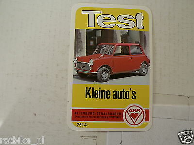 48-Small Cars 0 Blmc Mini 850  Kwartet Kaart, Quartett Card,