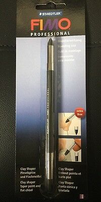 Staedtler Fimo Professional Clay Shaper- Taper Point+ Flat Chisel-Double Ended