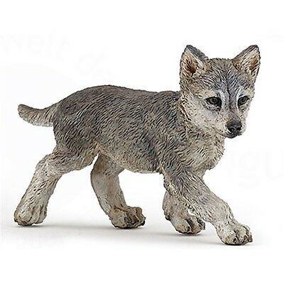 Papo Wild Wolf Cub Figure - Animal Fantasy Action Model Detailed Plastic Toy