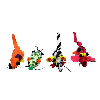 Assorted Catnip Critter Cat Toys - Critters Mouse Mice Toy Playing Stimulation