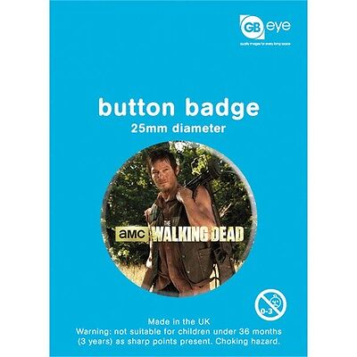 The Walking Dead Daryl Button Badge - Horror Tv Zombie Badges Official