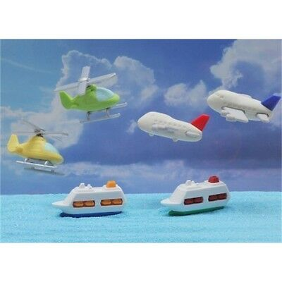 Iwako By Themes Cruise Ship, Helicopters And Airplane Japanese Erasers (6