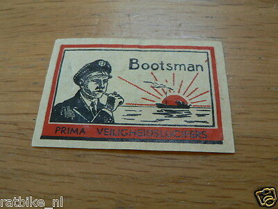 D10  Lucifers,matchbox Labels Bootsman Prima Veiligheidslucifers