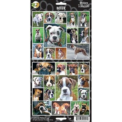 Sheet Of 27 Boxer Dog Stickers - 27x Lovers Gift Personalise Decorate