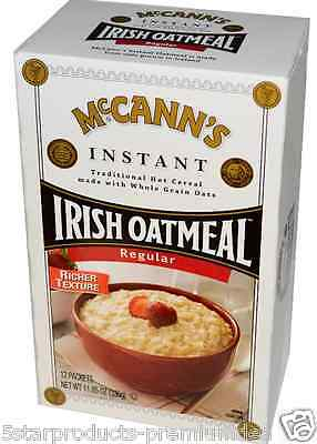 New Maccann's Irish Instant Oatmeal Regular Whole Grain Richer Texture Cereal