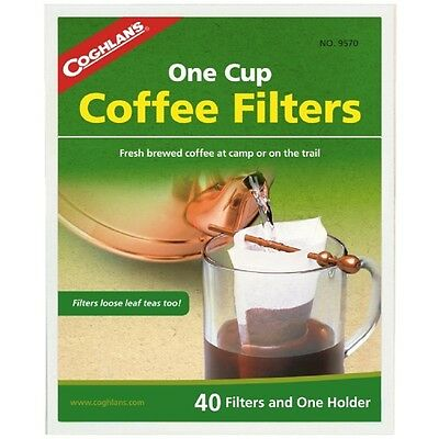 Coghlans Coffee Filters & Holder - Outdoor Dining Drinking Camp Camping Kitchen