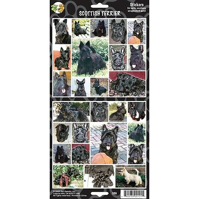 Sheet Of 27 Scottish Terrier Stickers - Stickersx Dog Lovers Gift Personalise