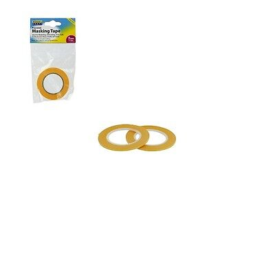 2mmx 18m Precision Masking Tape - Precise Intricate Prevents Paint Bleed