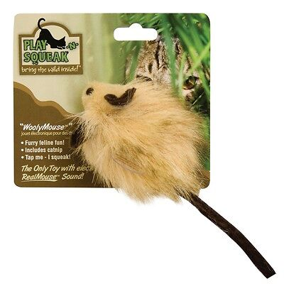 Wooly Mouse Squeaking Cat Toy - Ourpets Playnsqueak