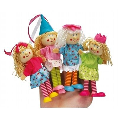 Fairy Wooden Finger Puppet Assorted Designs - Wood Magical Woodland Bright