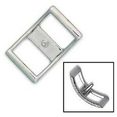 """1"""" Nickel Plated Conway Buckle - 1"""" Leathercraft Decorative Accent Tandy 1536-00"""