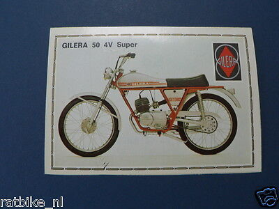 Smp012- Gilera 50 4V Super Picture Stamp Album Card,album Plaatje