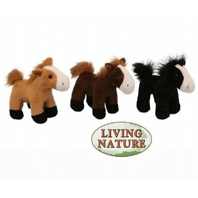 Small Horse Childrens Soft Toy - Living Nature Novelty Cuddly Stocking Filler