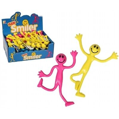 Bendy Smiley Man With Bendy Arms & Legs Fun Toy - Novelty Gift Pocket Money