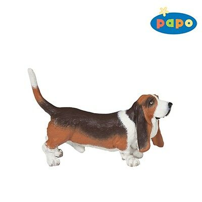 Papo Basset Hound Figurine - 54012 Animal Toy Detailed Plastic Dog Animal Figure