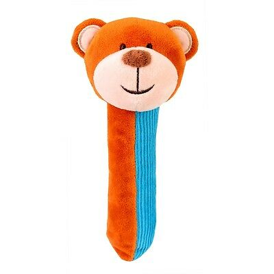 Blue First Years Squeakaboo Bear - Fiesta Craft Baby's Soft Toy Rattle