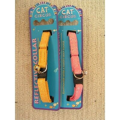 Glitter Safety Cat Collar Assorted Colours - Circus Fashionable Pet Accessory