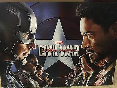 Captain America: Civil War Lithograph 4 Piece Set With Folder New