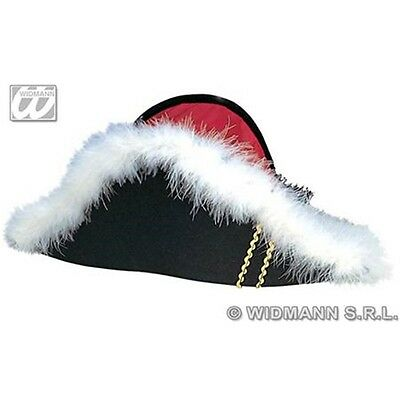 Adult's Felt Napoleon Hat - Red Admiral Nelson Pirate Sailor Fancy Dress