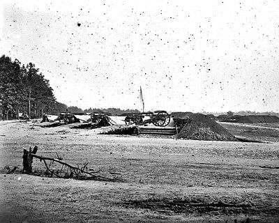 New 11x14 Civil War Photo: Redoubt of 1st Pennsylvania at Fair Oaks, Virginia
