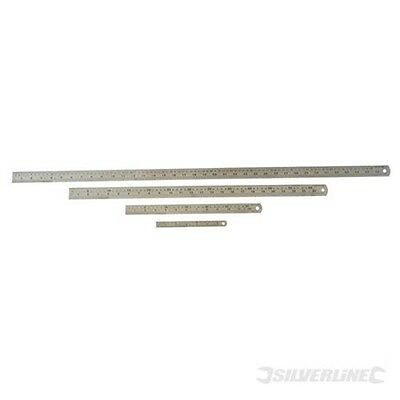 600mm Silverline Steel Rule - Professional Precision S Ruler Metric Imperial