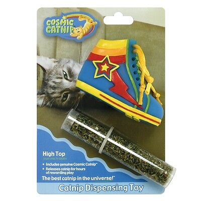 Cosmic Catnip Dispensing Boot Cat Toy - Kitten Boots Easy Refill 100 High Top • EUR 7,21