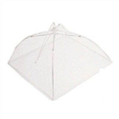 40.5cm White Umbrella Food Cover - Traditional Protects Against Flies And Dirt