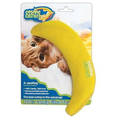 100% Cosmic Catnip Filled Banana - Cat Toy Apeeling 100 Ourpets Kitten