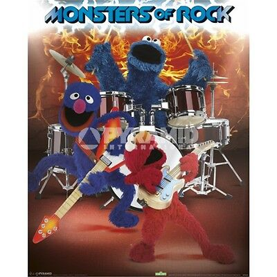 41 x 51cm Sesame Street Monsters Of Rock Mini Poster - 40cm 50cm Pyramid
