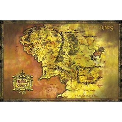 Lord Of The Rings Classic Map Maxi Poster - 61x 91.5cm Official Film Merchandise