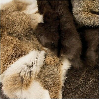 Natural Rabbit Skin - Fur Garment Design Lining Accessory Tandy Leather 9305-00