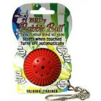 Babble Talking Ball Bird Toy - Birdy Cage Parrot Grey Trainer