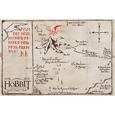 The Hobbit Mountain Map Maxi Poster - 61x 91.5cm Lord Of Rings Merchandise