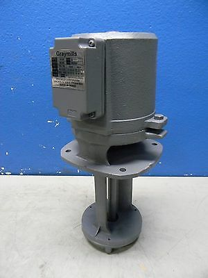 Graymills Replacement Coolant Immersion Pump 230V 3 Phase 1/4HP IMV25-F