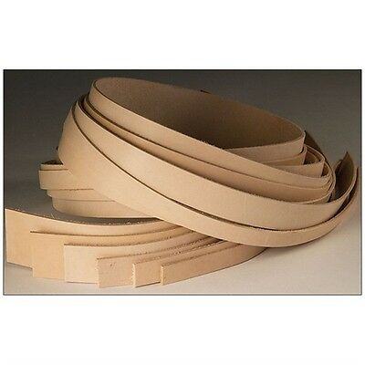 """1"""" x 50"""" Lightweight Cowhide Leather Strips - Natural Strip 50"""" Tandy Craft"""