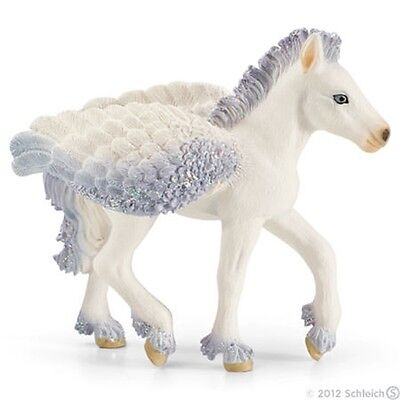 Schleich Pegasus Foal Model - World Of Elves Role Play Figure Figurine Toy